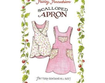 The Paisley Pincushion SCALLOPED APRON Sewing Pattern