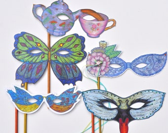 Masquerade Masks,Photobooth Props, Fantasy Masks, Wedding Favors