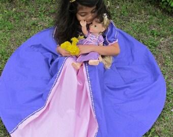 COMFORTABLE  cotton Rapunzel costume