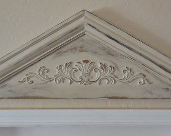 Primitive Pediment Architectural PedimentDoor PedimentColonial PedimentShabby Door TopperOrnamental Door TopperFrench Country Pediment : door toppers - Pezcame.Com