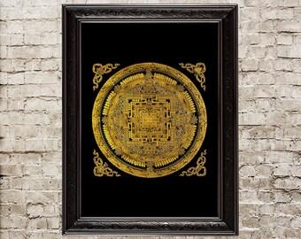 Mandala, mandala print, mandala poster, universe, Buddhism, Hinduism, sacred, sacred geometry, Buddhist, mandala decor, sacred wall art, 427