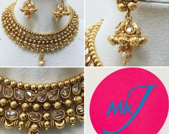 Necklace and Earring set (Polki)