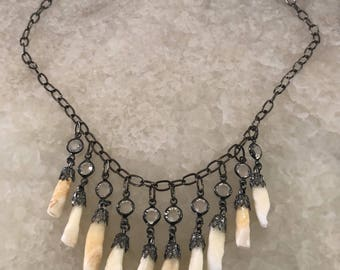 Human Tooth Charm Necklace