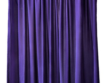 Exceptional Purple Velvet 120 Inch Long Curtain Panel Large Special Event Wedding Or  Trade Show Expo Decor