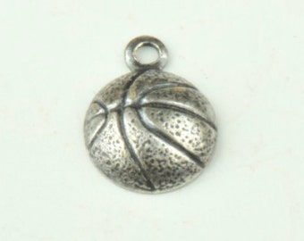 Basketball Charm one sided, brass plated, sold in packages of 6 15144