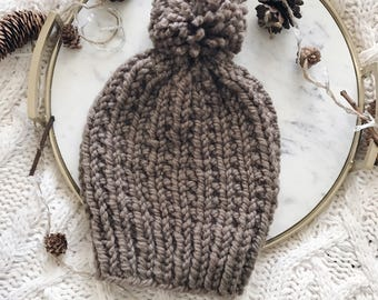 Textured Cable Knit Beanie Hat