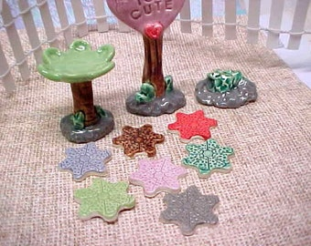 Fairy Garden Stepping Stones | Mini Teacup Garden or Terrarium Accessories | Pottery Clay in Your Choice of Color & Quantity | Made to Order