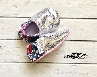 Sequin Moccasins | Sequin Baby Moccasins | Baby Girl Shoes |  Baby Moccassin | Toddler Moccasins | booties crib | baby girl shoes |