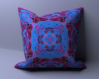 Mandala Pillow Cover - Pillowcase - Indian Cushion Cover - Boho Throw Pillow - Designer Pillow - Sofa Pillow - Bed Pillow - Couch Pillow