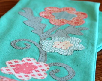 Kitchen Towel, Applique Towel, Hostess Gift