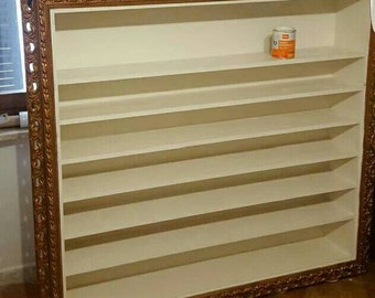 Frame bookcase in craft style