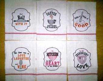 Kitchen Quotes Applique Pack Price   6 Towel Embroidery Designs   Machine Embroidery  Designs   4x4, 5x7 INSTANT DOWNLOAD