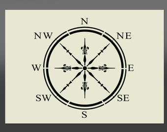 Compass Stencil - Various Sizes - Made from High Quality Mylar
