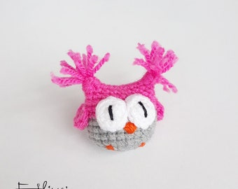 Cute Kids Gifts, Girls Brooch, Children's Jewelry, Birthday Gifts For Girls Gift Ideas, Child Accessories, Crochet Brooch Pin, Owl Amigurumi