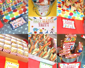 Carnival Birthday Party Carnival Sign Circus Sign Circus Birthday Party Carnival Food Circus Party Carnival Party Game Signs Prizes EditWORD