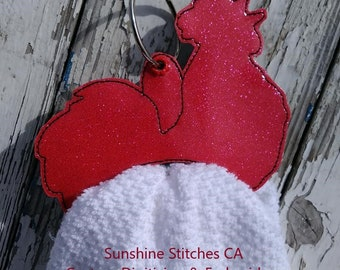 SSCA Rooster Towel Holder