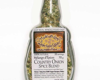 Country Onion - Herbs and Spices Artisan Spice Blend - Poultry Seasoning Great BBQ Grill Rub - Organic Spices Dip Mix - Ranch Spice  - Food
