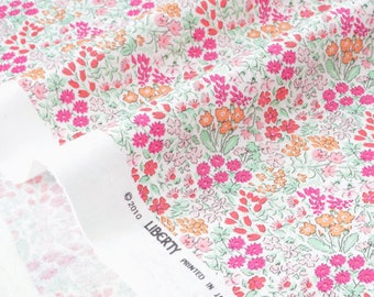 Fabric Liberty of London pink floral cotton silky jersey x 50cm