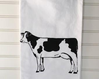 Flour Sack Towel-COW Flour Sack Kitchen Towel Flour Sack Tea Towel Flour Sack Tea Towels Farmhouse Decor Tea Towel Cotton Dish Cloth Towel