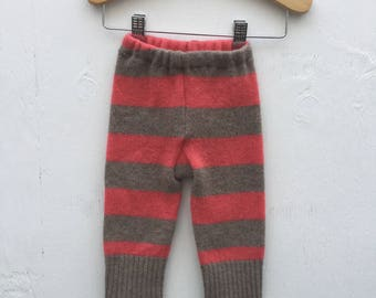 3-6 Melon Stripe Wool Pants