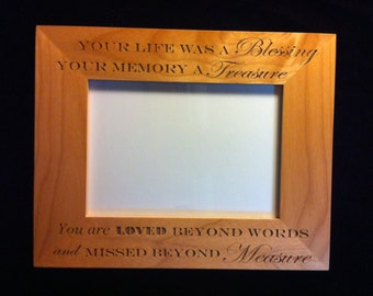Personalized Memorial Frame - Loss of a Child - Loss of a Loved One - Sympathy Gift - Bereavement Gift