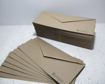 "Kraft Envelopes, 50 Brown Bag Kraft #10 Letter, Business Sized Envelopes - 9 1/2"" x 4 1/8"", 100% Recycled"