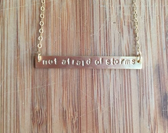 Little Women Quote Stamped Necklace 14 Karat Gold Filled Chain