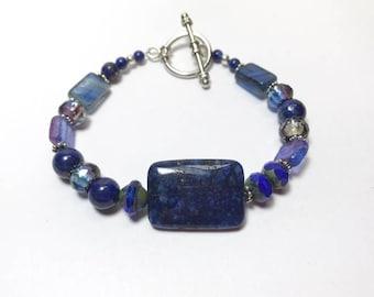 Lapis Lazuli Chunky Beaded Bracelet
