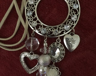 Glossy silver plated necklace