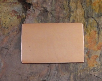 """5 Deburred 18G Copper 1"""" inch X 1 1/2"""" rounded corner RECTANGLE Stamping Blanks"""