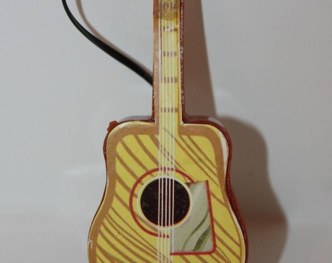 Vintage Plastic Guitar for Barbie Skipper Tammy Ken Dolls