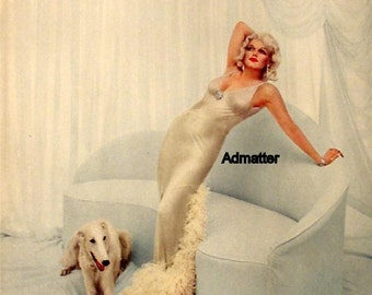 Marilyn Monroe Lot of 5 1959 Richard Avedon Pinup Prints Impersonating Jean Harlow Marlene Dietrich Theda Bara Lillian Russell & Clara Bow!