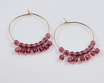 Fuchsia Orb Earrings