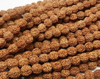 108pc  8mm  Rudraksha   Natural Bodhi Seed  Tibetan prayer loose beads