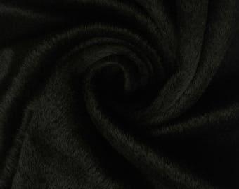 Haute Couture black alpaca wool