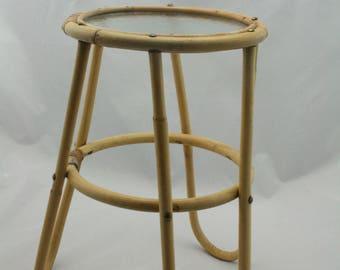 vintage bamboo sidetable