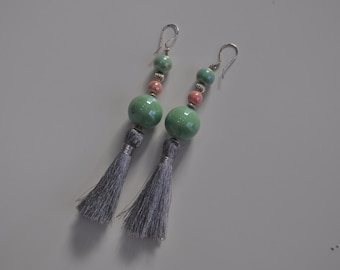 Leila- ceramic earrings