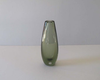 Vicke Lindstrand Thick-Walled Attenuated Teardrop Vase / Vessel - Kosta, Sweden 1960s