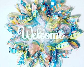 Everyday Summer Wreath, Summer Wreath, Everyday Welcome Wreath, Welcome Wreath, Pretty Colors Wreath