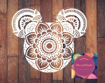 FREE SHIPPING Mouse Mandala boho car decal sticker