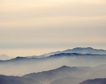 Mountains - Clouds - Mountains Photo - Misty Mountains - Landscape Print - Digital Photo - Digital Download - Instant Download - Home Decor