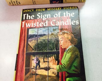 Vintage Nancy Drew Mystery Book The Sign of the Twisted Candles 25 Chapters 9 in Series Carolyn Keene