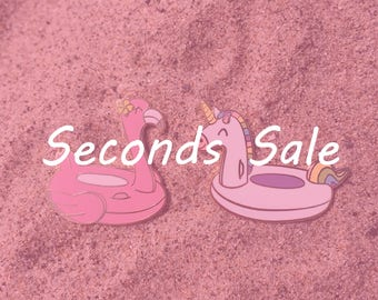 Pool Float Pins Seconds Sale