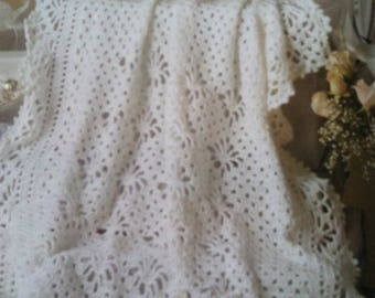 Crochet Baby Keepsake Heirloom Baptism Christening Dedication Afghan Blanket Made To Order