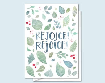 Holiday Greeting Card- Rejoice! Rejoice! - Christmas