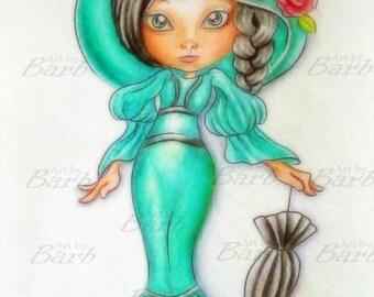 My Fair Gurl Line art to colour