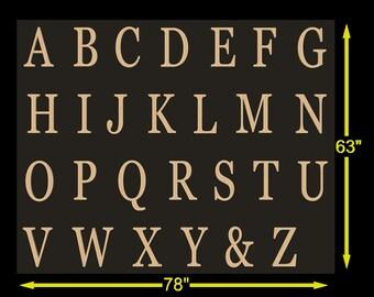 Unpainted Wooden Alphabet Set, Unfinished Wood Letters, ABC Wall, Alphabet Letters, unfinished letters