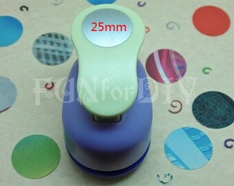 25mm large size lever type paper punch -- circle