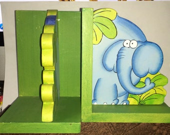 New Unused Kids Elephant Bookends