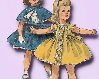 1950s Vintage Simplicity Sewing Pattern 1779 15 Inch Sweet Sue Doll Clothes ORIG